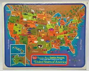 Details about Vintage 1960s Duncan Hines United States of America Picture  Map Puzzle USA Made