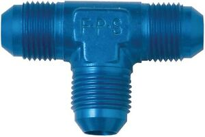 Aluminum-Tee-Adapter-Fitting-4-AN-Blue-Anodized-Each-Fragola-482404