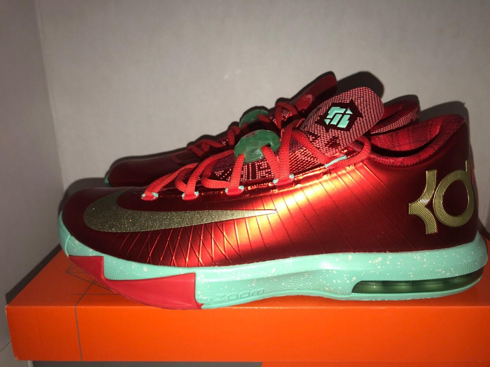Nike Kevin Durant KD VI  Christmas  Men's Size 11 DS 599424 601