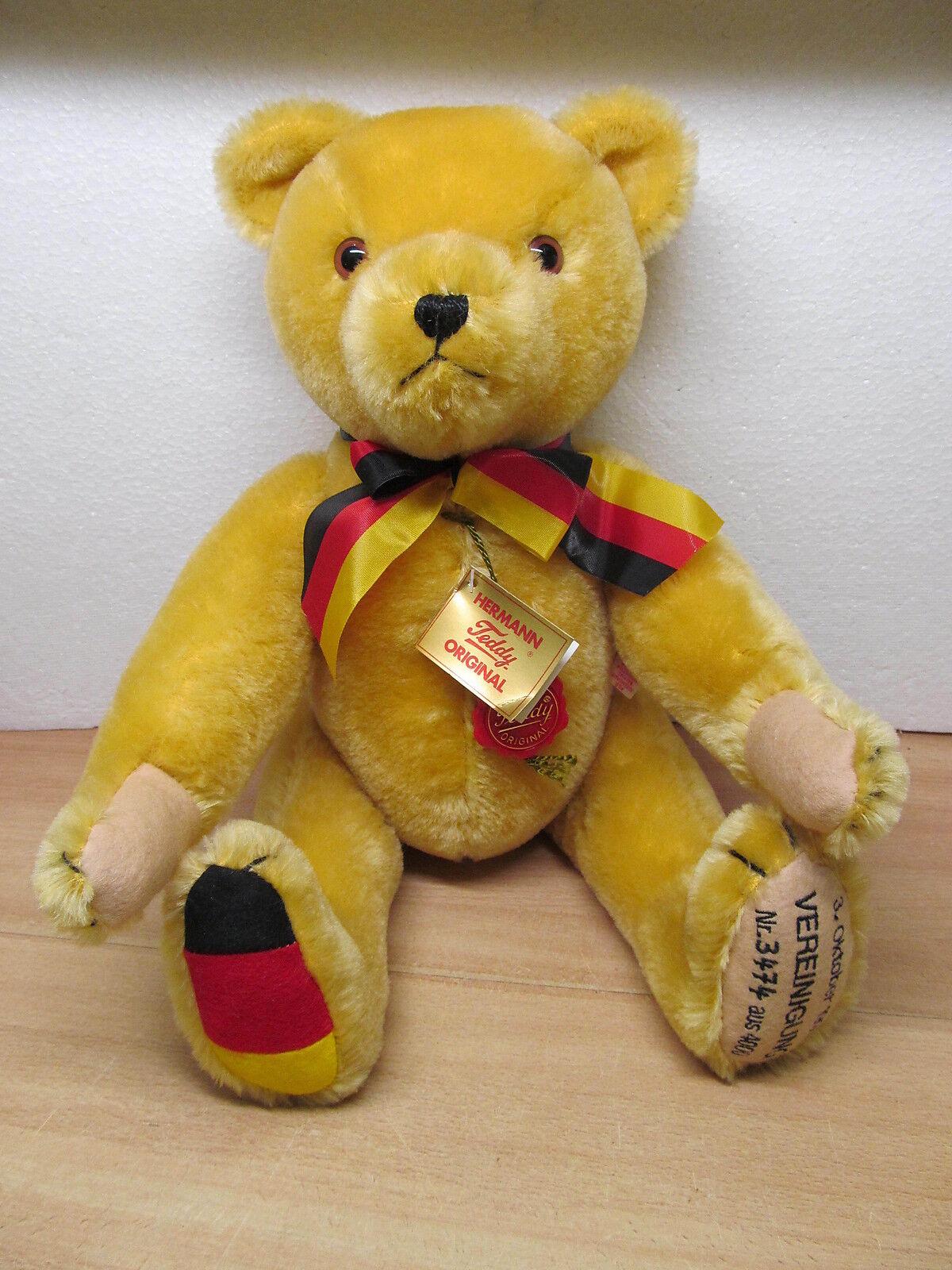 MES-37203 Neuzeitlicher Hermann Teddy Vereinigung 1990 L:ca.44cm sehr gut