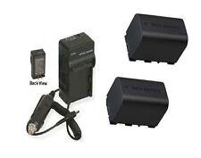 TWO 2X Batteries + Charger for JVC GZ-HM845 GZ-HM860 GZ-GX1U GZ-GX1BUS GZ-HM960