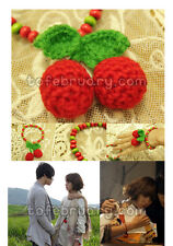 Korean TV Drama Heaven's Postman Kim Jaejoong Han Hyojoo Knitted Cherry Bracelet