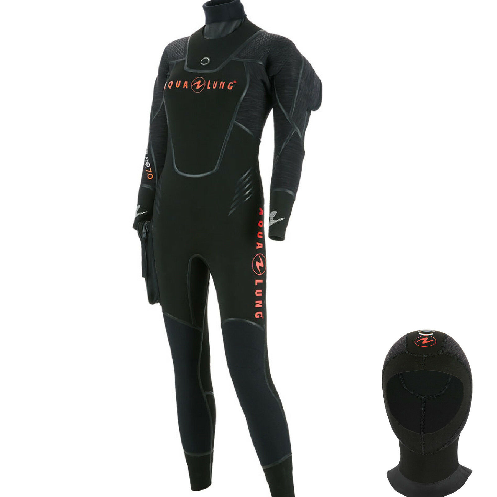 LO3 Aqualung ICELAND CONFORT woman semidry suit  with hood  size S