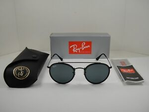 15751da23b3 RAY-BAN ROUND BRIDGE SUNGLASSES RB3647N 002 R5 BLACK GREY CLASSIC ...