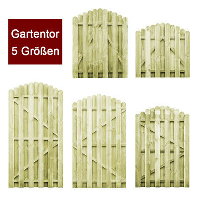 vidaXL Holz Imprägniert Gartentor 100x100cm Gartentür Zauntür Lattenzaun Tor G