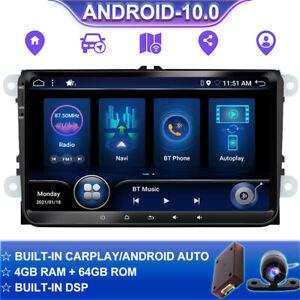 DSP CarPlay Autoradio Für VW Golf T5 Passat Caddy EOS Android 10.0 GPS 64GB 9 In