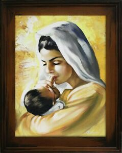 Religion-Mary-Handmade-Oil-Painting-Picture-Oil-Frame-Pictures-G93603