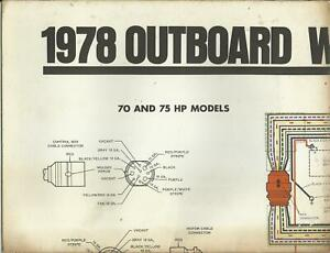 JOHNSON MARINE BOAT 1978 OUTBOARD WIRING DIAGRAMS 70 75 85 115 140 HP  MODELS | eBayeBay