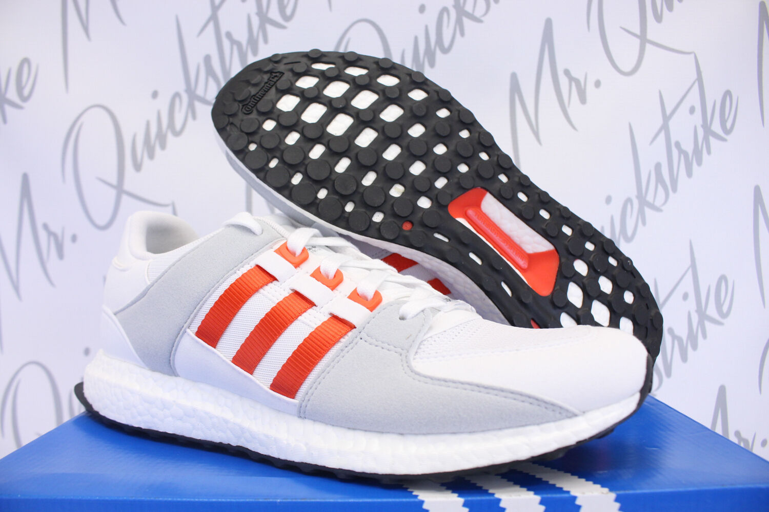 ADIDAS EQT SUPPORT ULTRA SZ 8.5 WHITE BOLD ORANGE GREY BY9532