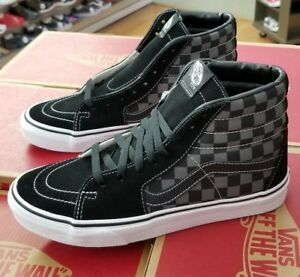 Image is loading VANS-SK8-HI-BLACK-PEWTER-CHECKERBOARD-VN000D5IBPJ-MEN- f09ff0654