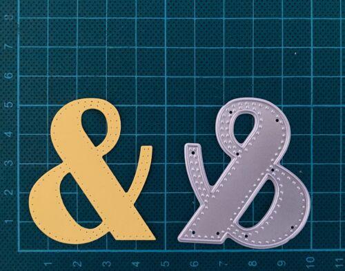 Nuevo BORDE cosido inglés AMPERSAND y /& símbolo del alfabeto Die Cortadores