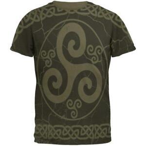 Celtic Homme Tee Distressed shirt Triskele Triskelion Yfvbg76y