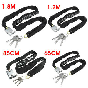1.2M Heavy Duty Motorcycle Bike Bicycle Anti-Theft Security Chain Lock