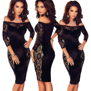 a434ad3c53ab Caricamento dell'immagine in corso Vestito-elegante-nero-donna-abito- cerimonia-pizzo-aderente-