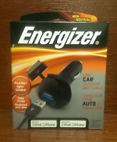 Energizer® Usb Car Charger And Dock Connector To Usb Cable For Ipad/ipod/iphone