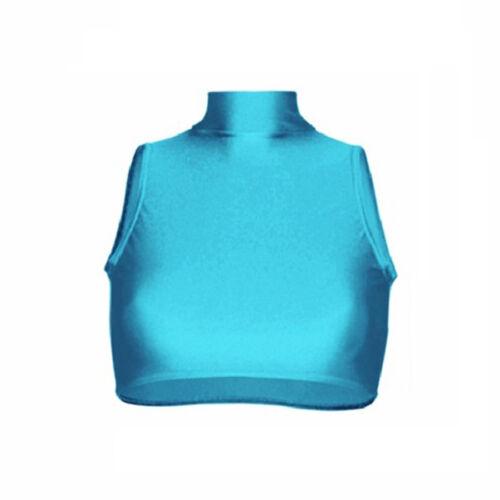 Starlite Nylon Lycra Bang Top Cropped Dance Top
