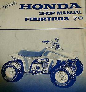 Honda Fourtrax 70 Factory Service Manual 85 86 Ebay
