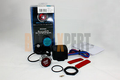 12V ELECTRIC PUSH TO START ENGINE IGNITION BUTTON WITH RED LED KIT