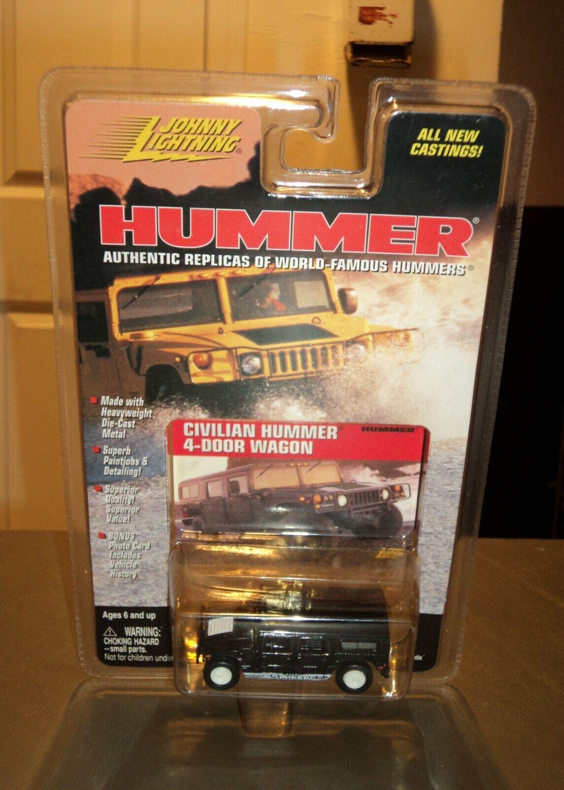 NEW Johnny  WHITE  Lightning Hummer Civilian 4-Door Wagon Wagon Wagon Die Cast Car CHASE e383a5