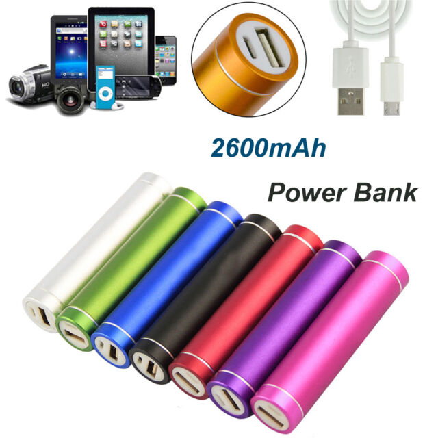 Portable Power Bank Battery Charger For Cell Phone Iphone 6/5/4 Samsung 2600mAh