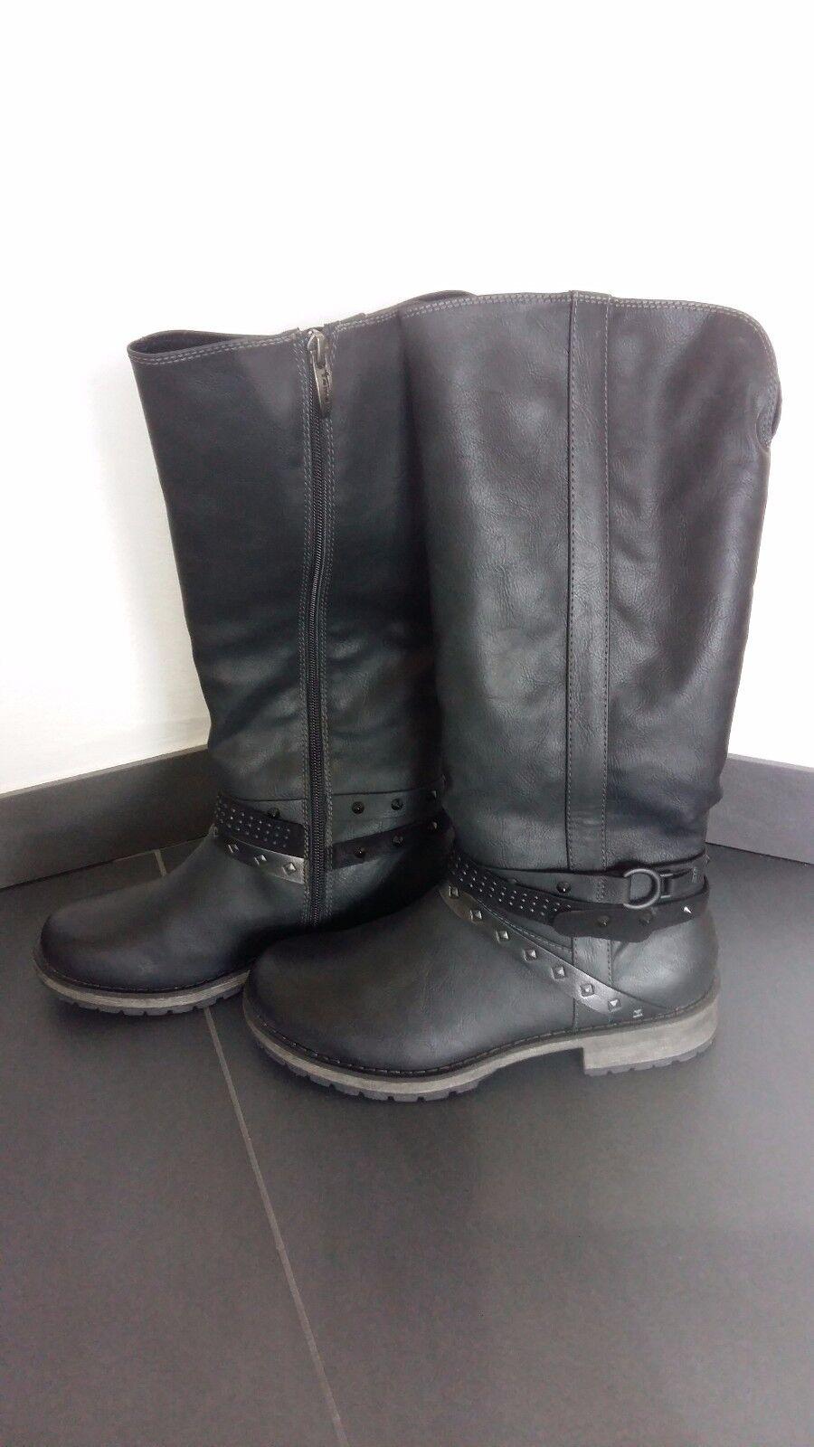 Tamaris Stiefel, schwarz, Größe 39