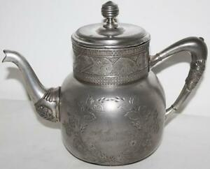 Antique Derby Silver Co Quadruple Silver Plated Lidded