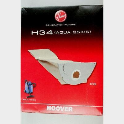 5 x confezione di Sacchetti per aspirapolvere per Hoover s4125 cb200 s5125 s5135