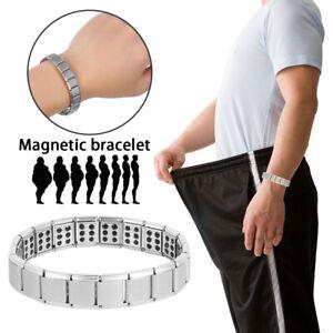 Uomo-Bracciale-Magnetico-Titanio-Super-Forte-Terapia-Metallo-BIO-Terapeutico