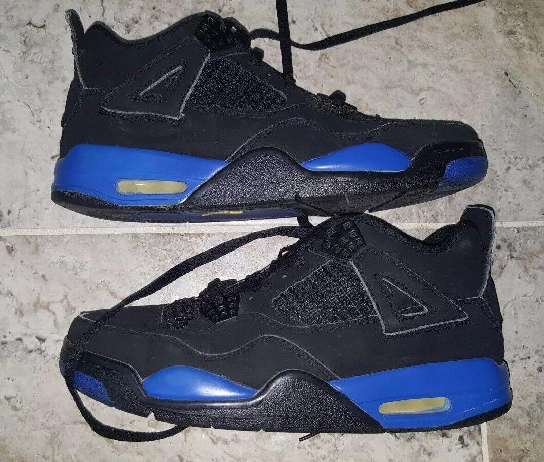 2004 Nike Air Jordan 4 Retro Black bluee Size US10 308497-047 ONLY MODEL ON EBAY