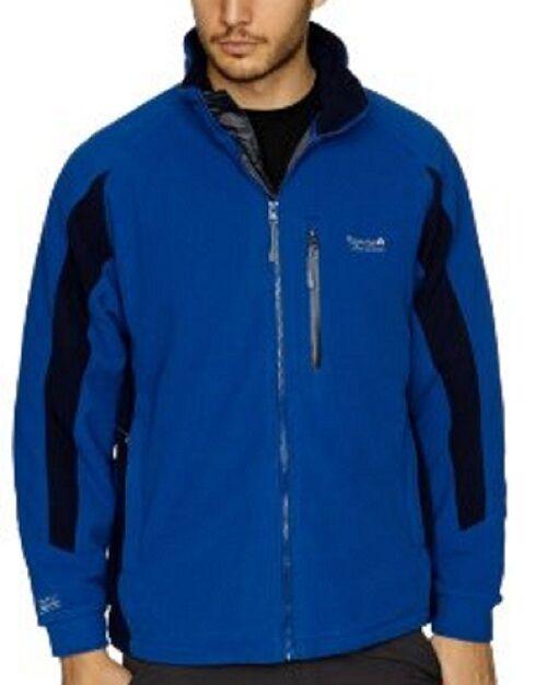 MEN'S REGATTA HANOVER RMA011 LASER blueE AND NAVY WATERPROOF AND WINDPROOF FLEECE