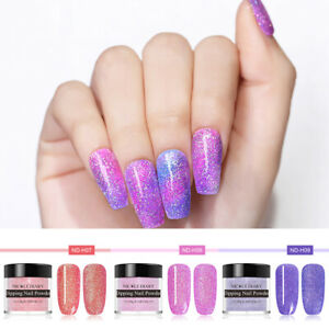 3Bottles-NICOLE-DIARY-10ml-Dipping-Glitter-Powder-Holographic-Chameleon-Nail-Art
