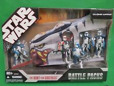 Star Wars Battle Pack The Hunt For Grievous Clone troopers 2006 figures MINT NEW