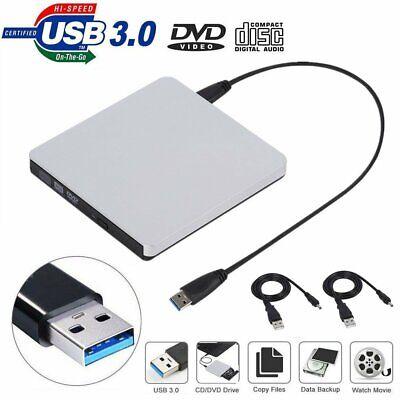 USB 3.0 External CD-RW CD-R Burner Optical Drive with USB Data /& Power Cable MX