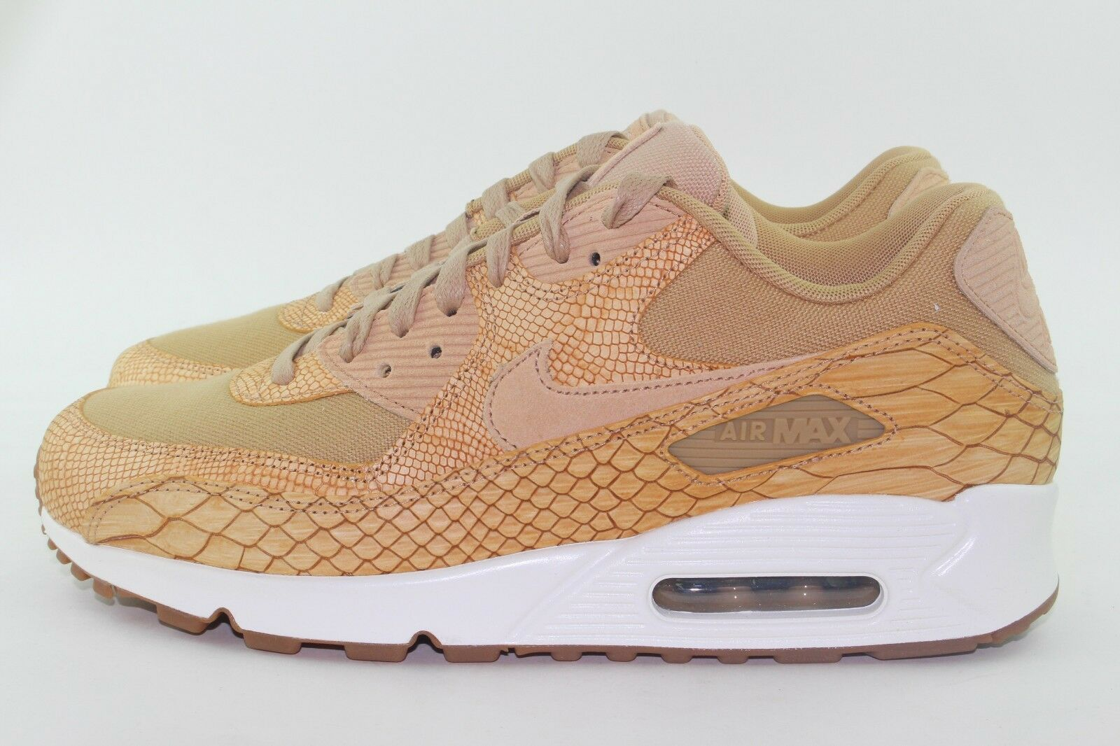 NIKE AIR MAX 90 PREMIUM LEATHER homme 8.5 VACHETTA TAN NEW RARE fonctionnement COMFORT