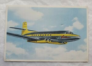 AVRO-JETLINER-THE-FIRST-JETMAIL-POSTCARD-APRIL-1950-TORONTO-NEW-YORK