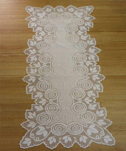 Tischdecken Jacquard Raschel 45*110cm Tischläufer weiß Zierdecke Tischdecke