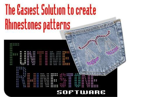 Cut with Silhouette Cameo //Craftrobo Rhinestone Strass Template making software