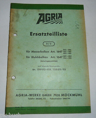 Farming & Agriculture Spare Parts List 8/3 Agria For Blade And Mulchbalken Schwingenantrieb 1968 Invigorating Blood Circulation And Stopping Pains Industrial