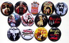 13 BUTTONS Mercyful Fate King Diamond Melissa Fatal Portrait - no shirt patch cd