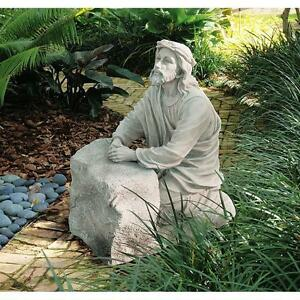 """Jesus In The Garden Of Gethsemane Design Toscano Exclusive 23½"""" Garden Statue"""