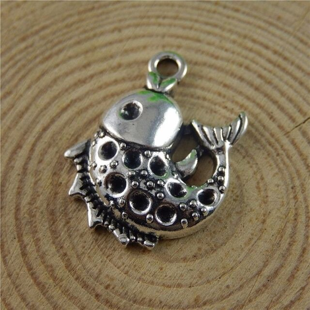 Antique Silver Alloy Jumping Cats Pendants Charms Findings Crafts 15pcs 38648