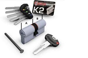 Cilindro europeo securemme k2 5 chiavi chiave da for Estrarre chiave rotta da cilindro