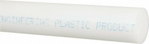 Made in USA 8 Ft Long Acetal Plastic Rod Natural 1//2 Inch Diameter