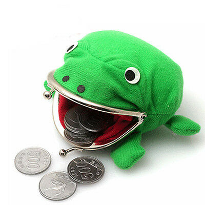 Cuit ! Uzumaki Naruto green Frog shape coin purse Wallet Bag cosplay prop