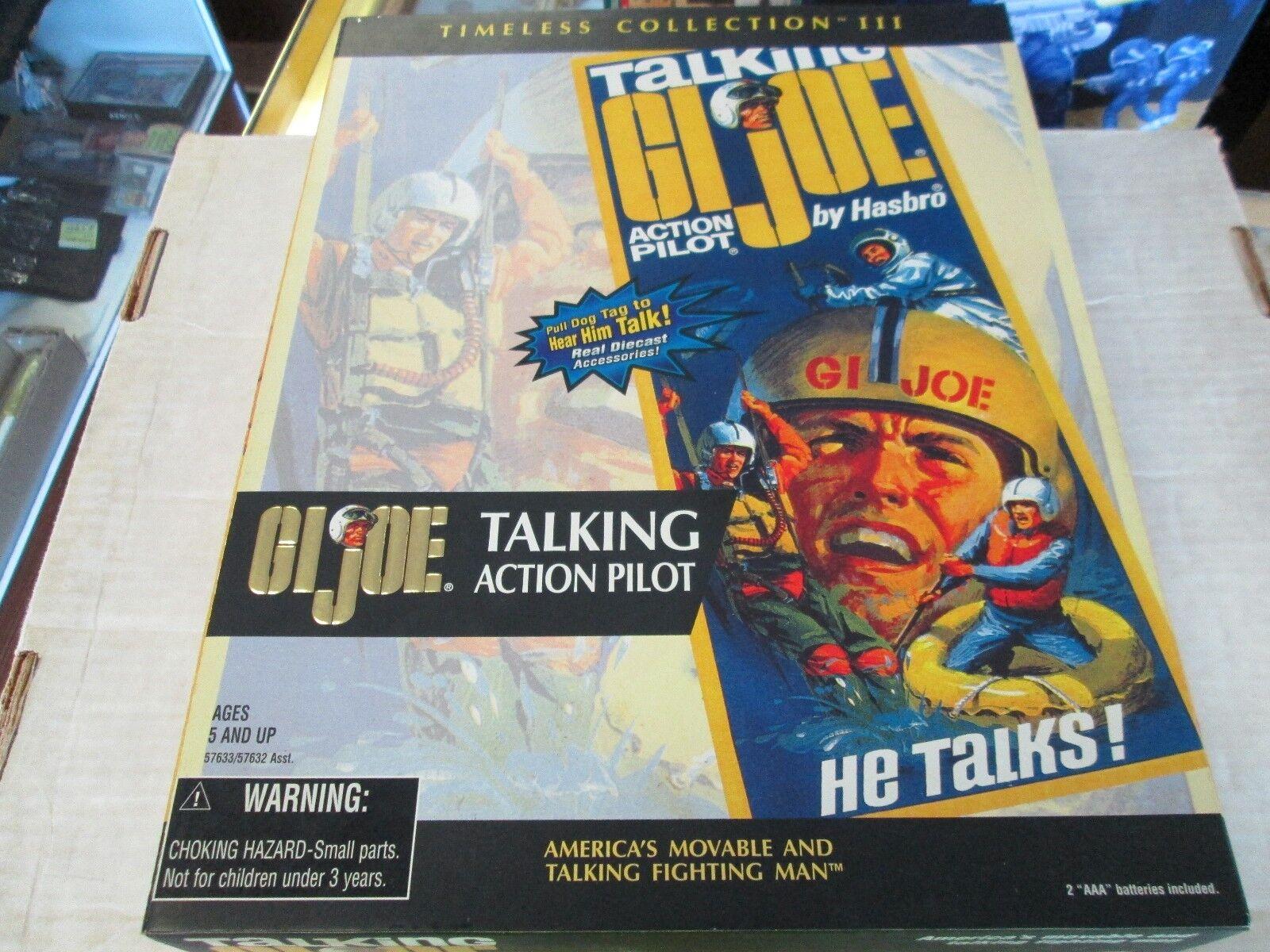Menta en Caja Gi Joe 12  Colección atemporal piloto de Acción que Habla