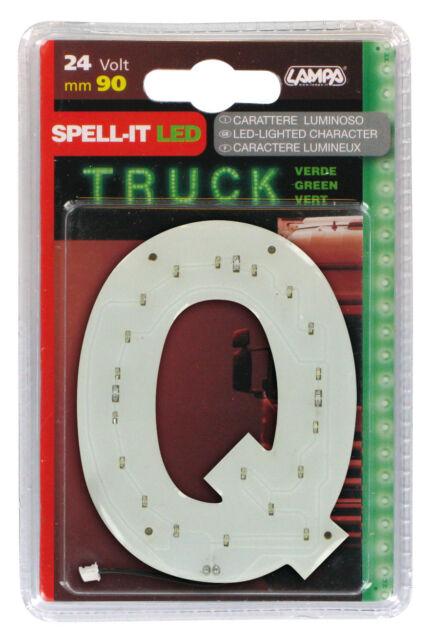 SPELL-IT LED, 90 MM, 24V - VERDE - Q LAMPA