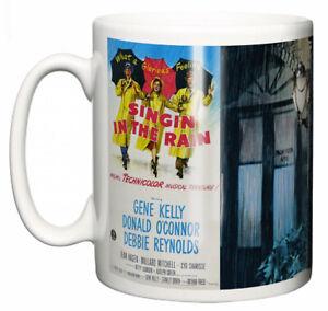 "Gene Kelly Mug ""Classic Hollywood Movie Poster Singin' in the Rain"" Ceramic Gift"