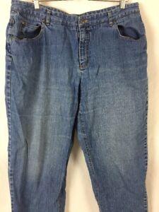 Talbots-Womens-Jeans-Plus-Sz-18W-40x29-5-Boyfriend-Medium-Wash-Straight-E129