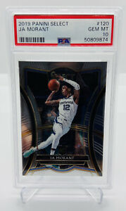 2019-20-PANINI-SELECT-JA-MORANT-PREMIER-LEVEL-120-ROOKIE-RC-PSA-10-ZION-PRIZM