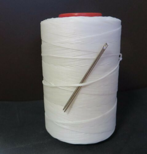 RITZA TIGRE WAXED HAND SEWING THREAD 0.6mm  FOR LEATHER//CANVAS /& 2 NEEDLES WHITE
